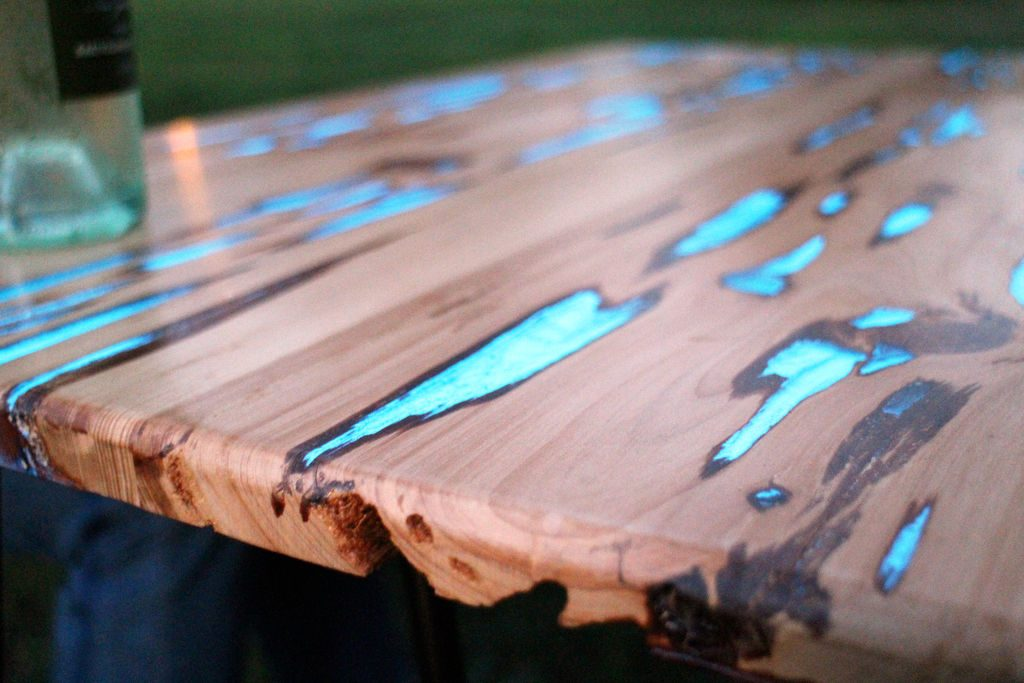 table basse luminescente